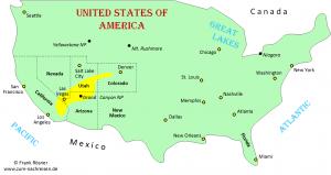 031 Übersichtskarte USA - bereistes Gebiet