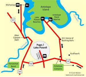 163 Die Umgebung von Page am Lake Powell
